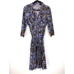 Boden Sz 14 Long Shirt Dress Floral Print
